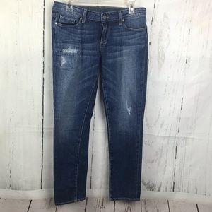 Paige Skyline Ankle Peg Jessie Tear & Repair Jeans